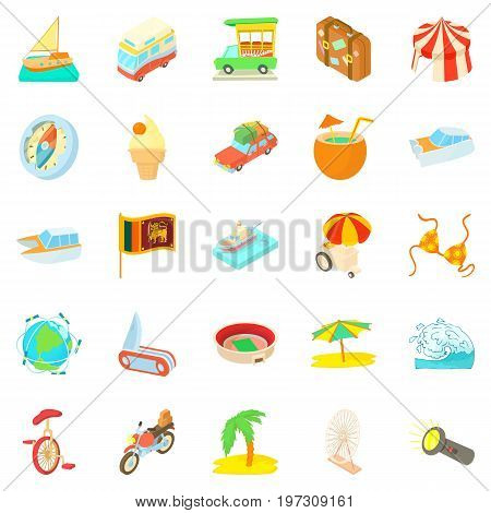 Courage icons set. Cartoon set of 25 courage icons for web isolated on white background