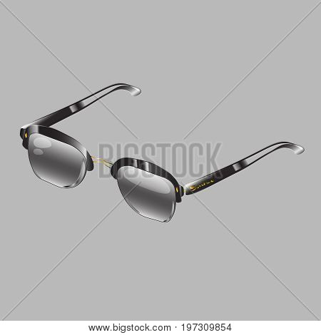 Sun-glasses. Represents protecting your eyes from the sun in the summer, in Sunny weather, sunshine