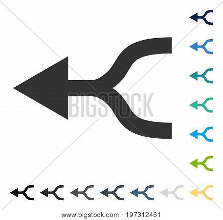 Combine Arrow Left icon. Vector illustration style is flat iconic symbol in some color versions.