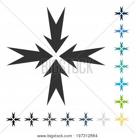 Compression Arrows icon. Vector illustration style is flat iconic symbol in some color versions.