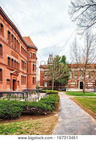 Sever Hall At Harvard Yard Ma America