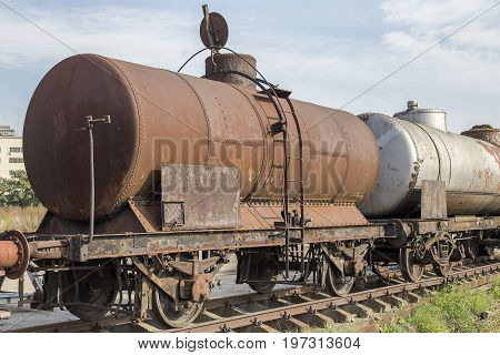 Abandoned Rusty Railway Containers
