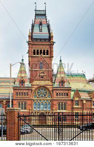 Memorial Hall In Harvard University In Cambridge Ma America