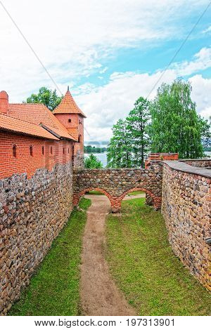 Trakai Island Castle Museum At Day Time Baltic