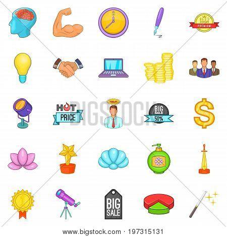 News icons set. Cartoon set of 25 news icons for web isolated on white background