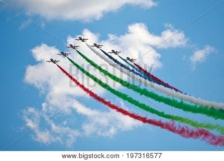 air show in a summer day Al Fursan