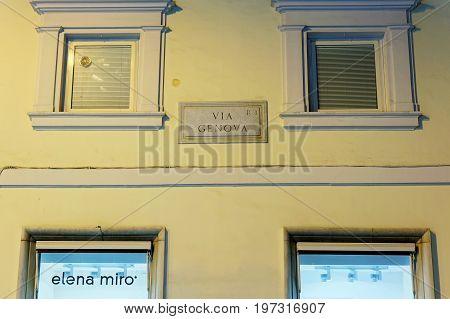 Elena Miro Store On Via Genova Street In Rome