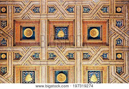 Decoration Of Ceiling Of Sant Andrea Basilica In Mantua