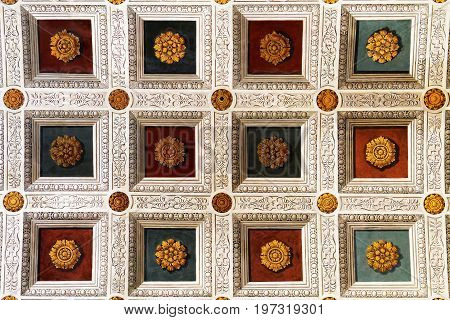 Decoration Of Ceiling In Sant Andrea Basilica In Mantua