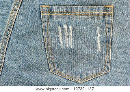 JEANS background denim jeans background with seam of jeans fashion design. Old grunge vintage denim jean. Stitched texture denim jeans background of fashion jean design