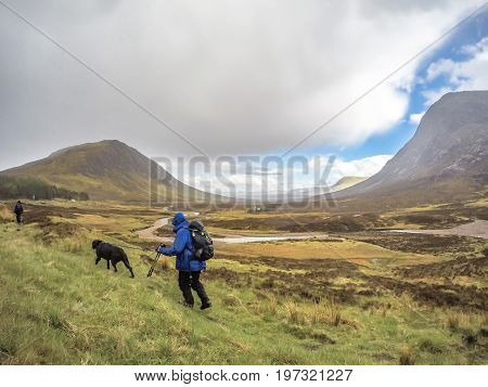 Hiking through the rain in Glencoe, Scotland - UK