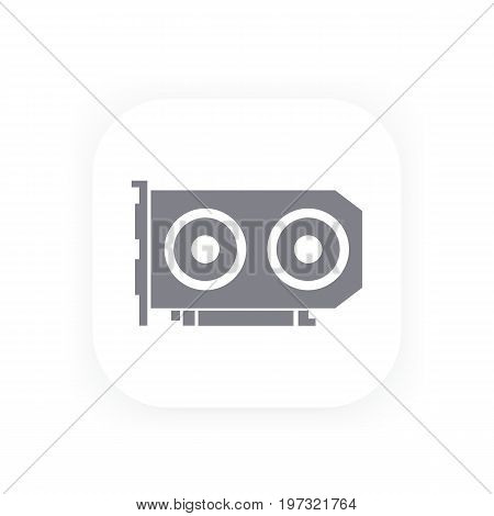 video card icon, vector pictogram, eps 10 file, easy to edit