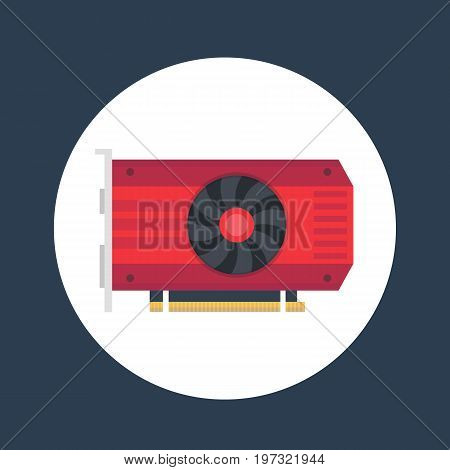 video card icon, eps 10 file, easy to edit