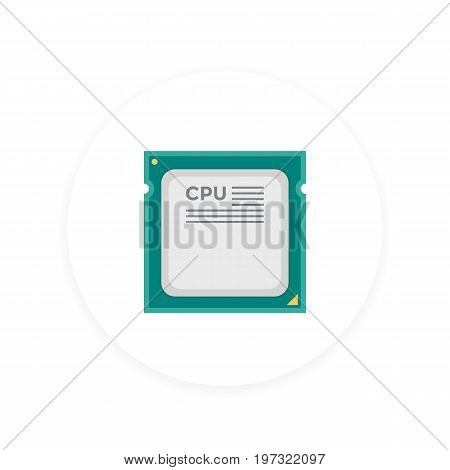 CPU, processor icon, eps 10 file, easy to edit