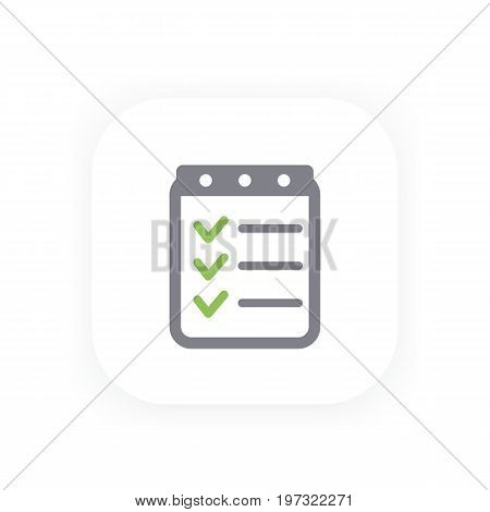 checklist icon, completed tasks, results, achievements symbol