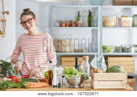 Lifestyle Blogger During Cooking