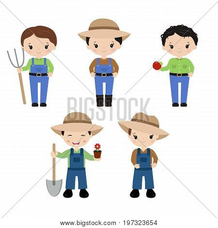 Set Of Farmers