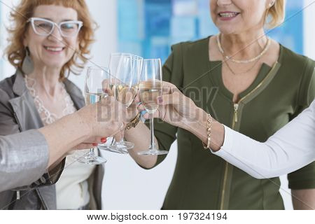Friends Making A Toast