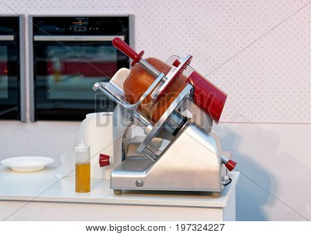 Equipment For Cutting Italian Traditional Bologna Sausage