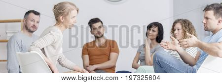 Man Talking During Psychotherapy