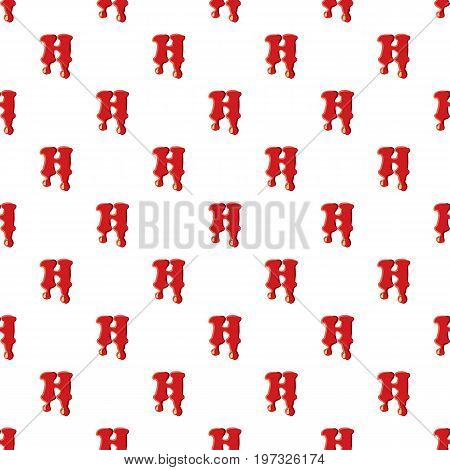 H letter isolated on white background. Red bloody H letter vector illustration