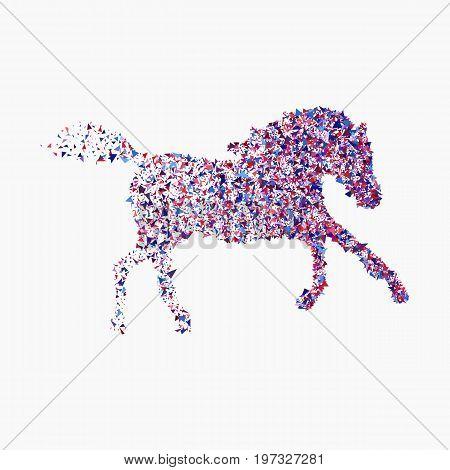 Icon Of Running Horse
