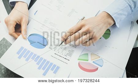 Accountant Or Manager Reading Documents