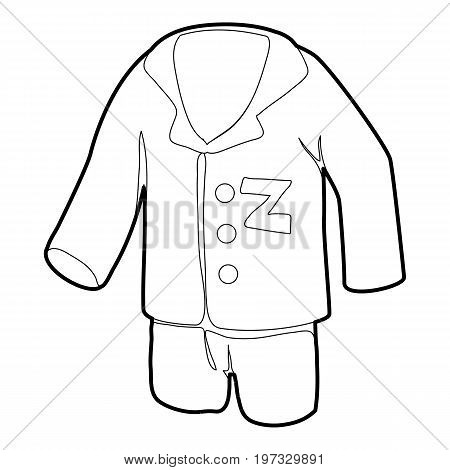 Pajamas icon. Outline illustration of pajamas vector icon for web design
