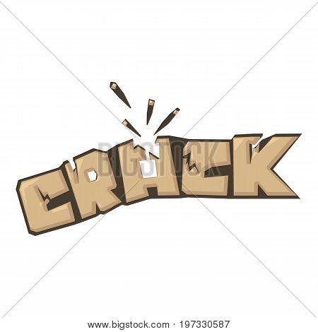 Crack sound effect icon. Cartoon illustration of crack sound effect vector icon for web design