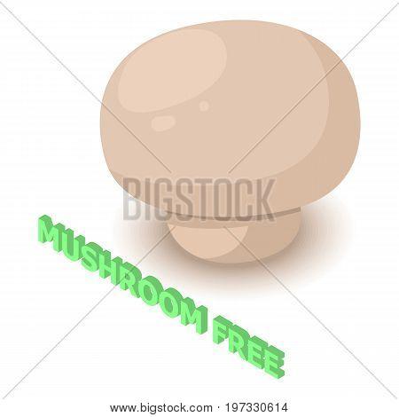 Mushroom allergen free icon. Isometric illustration of mushroom vector icon for web design