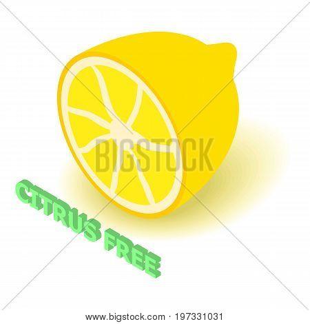 Citrus allergen free icon. Isometric illustration of citrus vector icon for web design