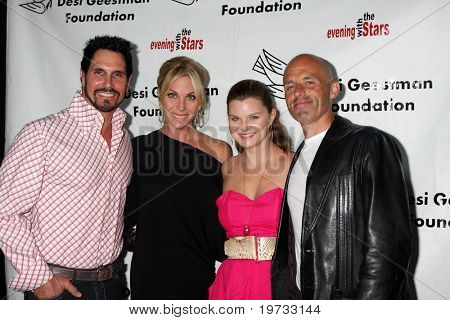 LOS ANGELES - OCT 9:  Don DIamont, Cindy Ambuel, Heather Tom, & James Achor arrives at the
