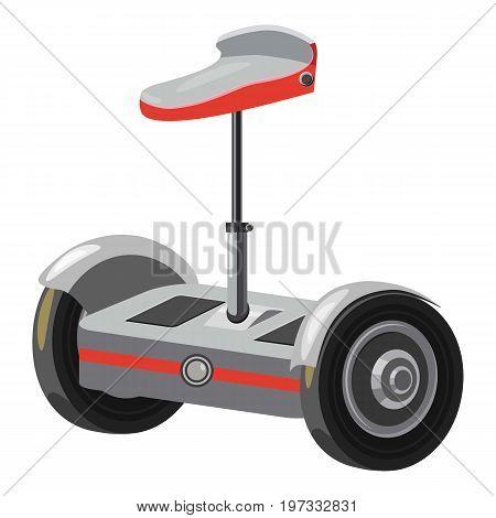 Urban eco vehicle icon. Cartoon illustration of urban eco vehicle vector icon for web design