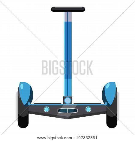 Dual wheel electric hoverboard icon. Cartoon illustration of dual wheel electric hoverboard vector icon for web design
