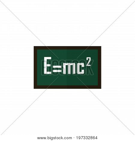 Theory Of Relativity Vector Element Can Be Used For Theory, Relativity, Formula Design Concept.  Isolated Formula Flat Icon.