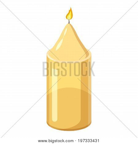 Decorative candle icon. Cartoon illustration of candle vector icon for web design