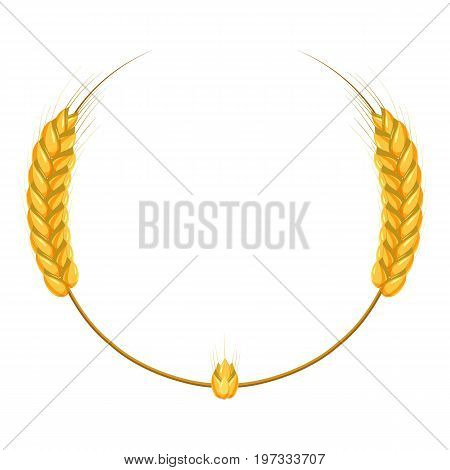 Wheat ears frame icon. Cartoon illustration of wheat ears vector icon for web design