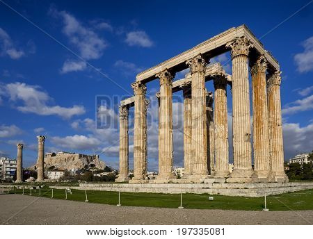 Columns of the Olympian Zeus in Athens - Greece