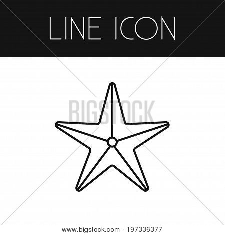 Sea Star Vector Element Can Be Used For Starfish, Sea, Star Design Concept.  Isolated Starfish Outline.