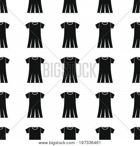 Dress seamless pattern vector illustration background. Black silhouette Dress stylish texture. Repeating Dress seamless pattern background for clothes design and web