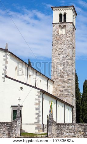 View of the Parish Church of Santa Maria Assunta Fagagna. Italy
