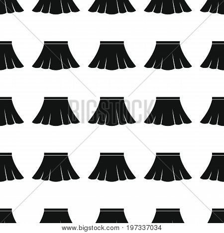 Skirt seamless pattern vector illustration background. Black silhouette skirt stylish texture. Repeating skirt seamless pattern background for clothes design and web