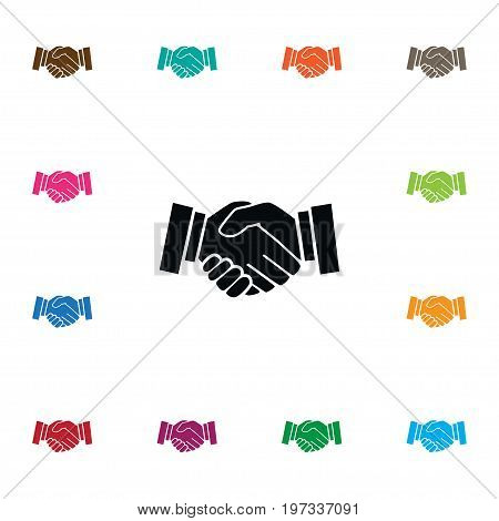 Meeting Vector Element Can Be Used For Handshake, Meeting, Friendship Design Concept.  Isolated Handshake Icon.