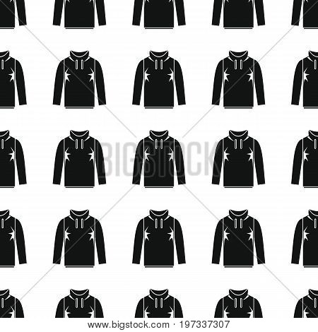 Jacket seamless pattern vector illustration background. Black silhouette Jacket stylish texture. Repeating Jacket seamless pattern background for clothes design and web