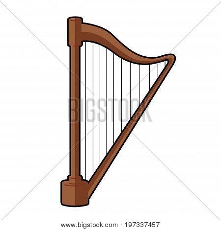 Isolated Harp Icon