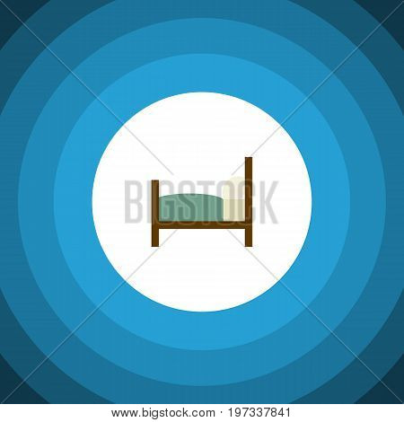 Bed Vector Element Can Be Used For Mattress, Bed, Bearings Design Concept.  Isolated Bearings Flat Icon.