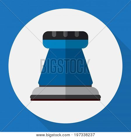 Vector Illustration Of Electric Symbol On Sandpaper Flat Icon