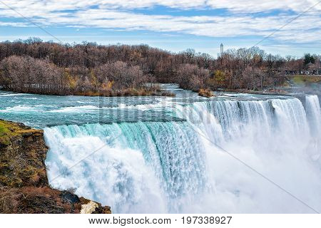 Niagara Falls In American Early Spring