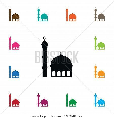 Traditional Vector Element Can Be Used For Traditional, Mosque, Minaret Design Concept.  Isolated Mosque Icon.
