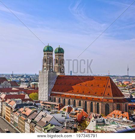 Munich cathedral church Frauenkirche in Bavaria, Germany